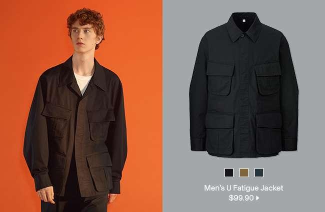 Men's U Fatigue Jacket at $99.90
