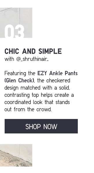 Shop EZY Ankle Pants (Glen Check) at $49.90