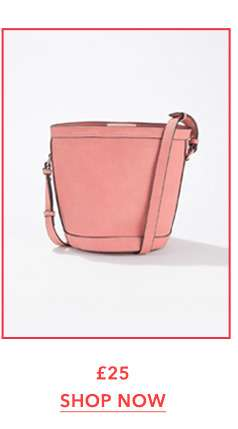Pink Bucket Cross Body Bag