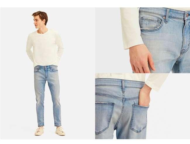 Men's Ultra Stretch Skinny Fit Damaged Jeans at $59.90