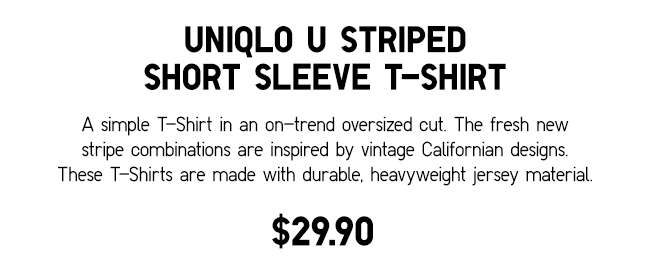 Men's UNIQLO U Striped Short Sleeve T-Shirt | A simple striped T-Shirt inspired by vintage Californian designs.
