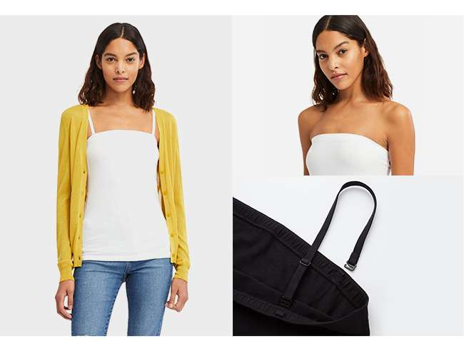 Women's Cotton Blended Tube Top at $12.90