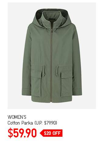 Limited offer: Women's Cotton Parka at $59.90