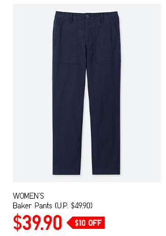 Limited offer: Women's Baker Pants at $39.90