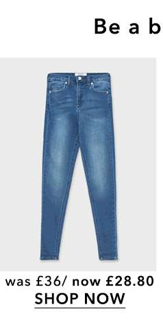 LIZZIE High Waist Super Skinny Mid Blue Jeans