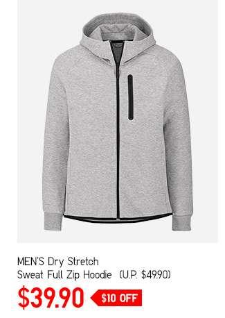 Men's Dry Stretch Sweat Full Zip Hoodie at $39.90