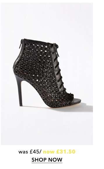 HILARY Woven Stiletto Heel Sandals