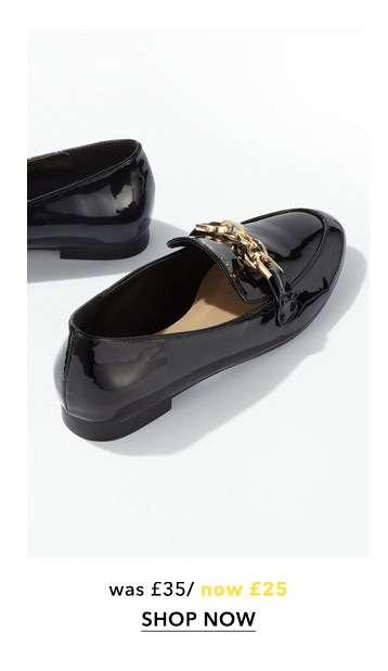 Black FANCY Trim Detail Loafers
