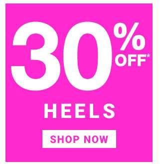 30% Off Heels