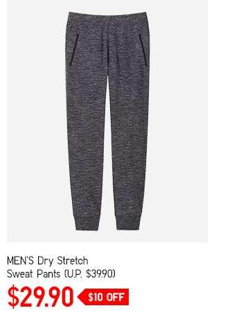 Men's Dry Stretch Sweat Pants at $29.90