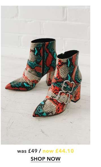 ANNA Multi Colour Buckle Boots