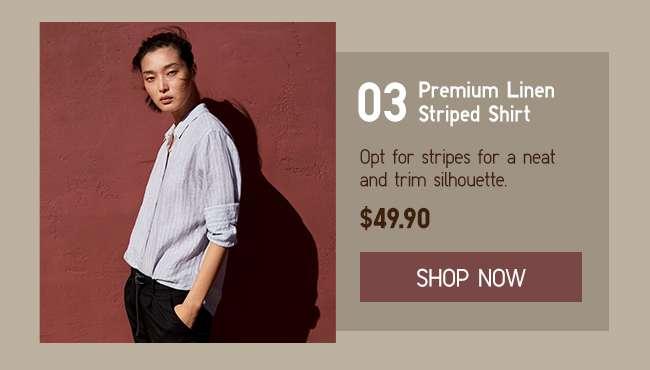 Shop Women's Striped Shirt at $49.90