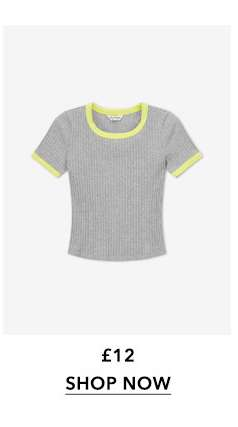 Grey Short Sleeve Crew Neck T-Shirt