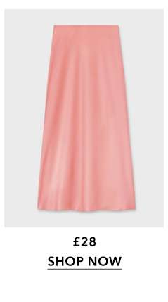 Pink Bias Slip Skirt