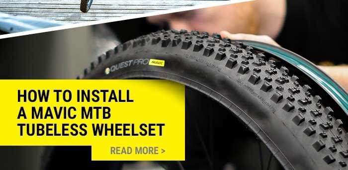 How to install a Mavic MTB tubeless wheelset