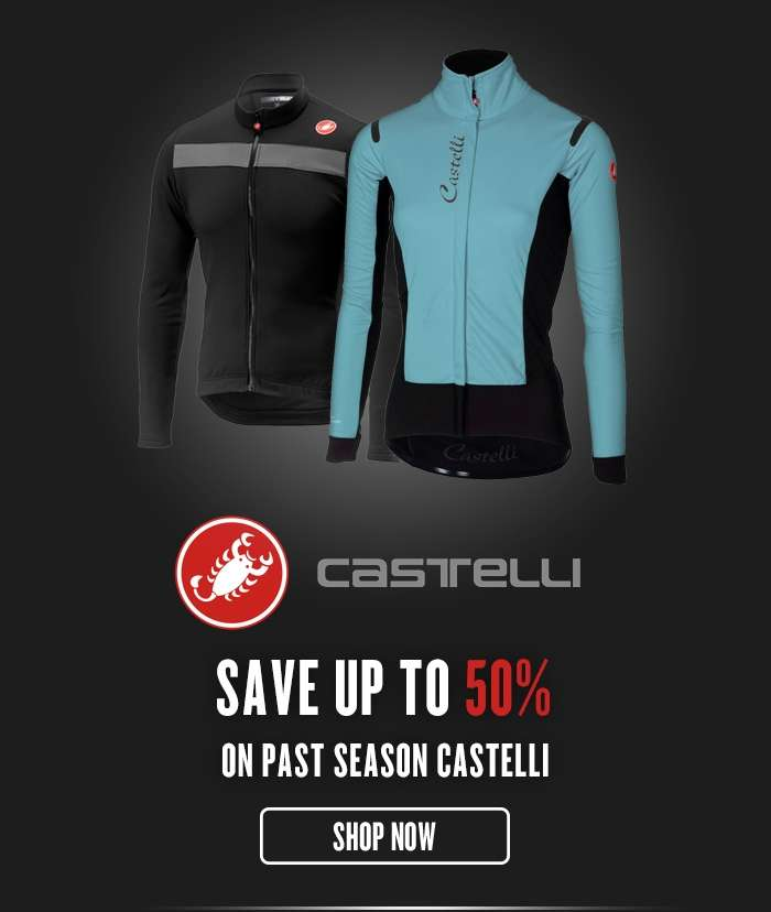 Save up to 50%  On past season Castelli