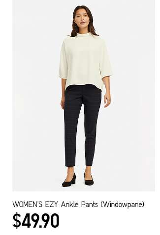 NEW: Women's EZY Ankle Pants (Windowpane) at $49.90