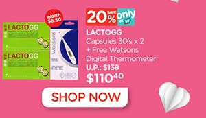 Lactogg Capsules Plus Free Thermometer