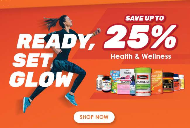 Save up to 25% on our Health & Wellness Range!