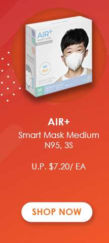 Air+ Smart Mask Medium N95, 3s