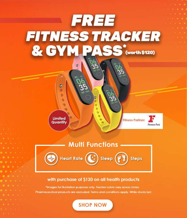 FREE Fitness Tracker & Gym Pass (Worth $120)