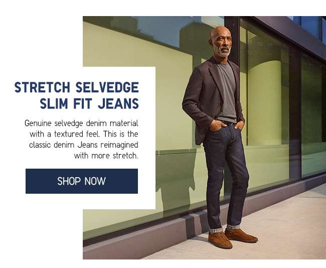 Shop Men's Stretch Selvedge Slim Fit Jeans