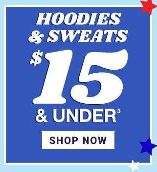 Hoodies & Sweats $15 & under