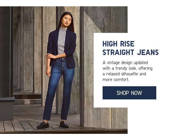 Shop Women's High Rise Straight Jeans