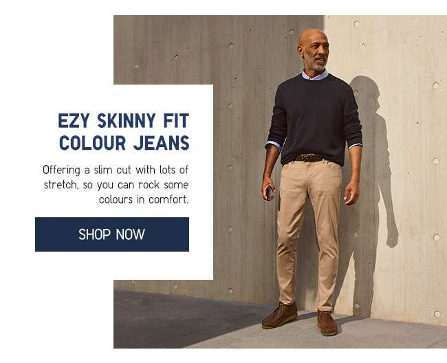 Shop Men's EZY Skinny Fit Colour Jeans