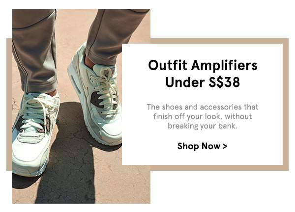 Shoes & Accessories Under S$38