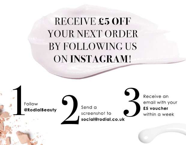 Receive £5 off your next order by following us on Instagram!