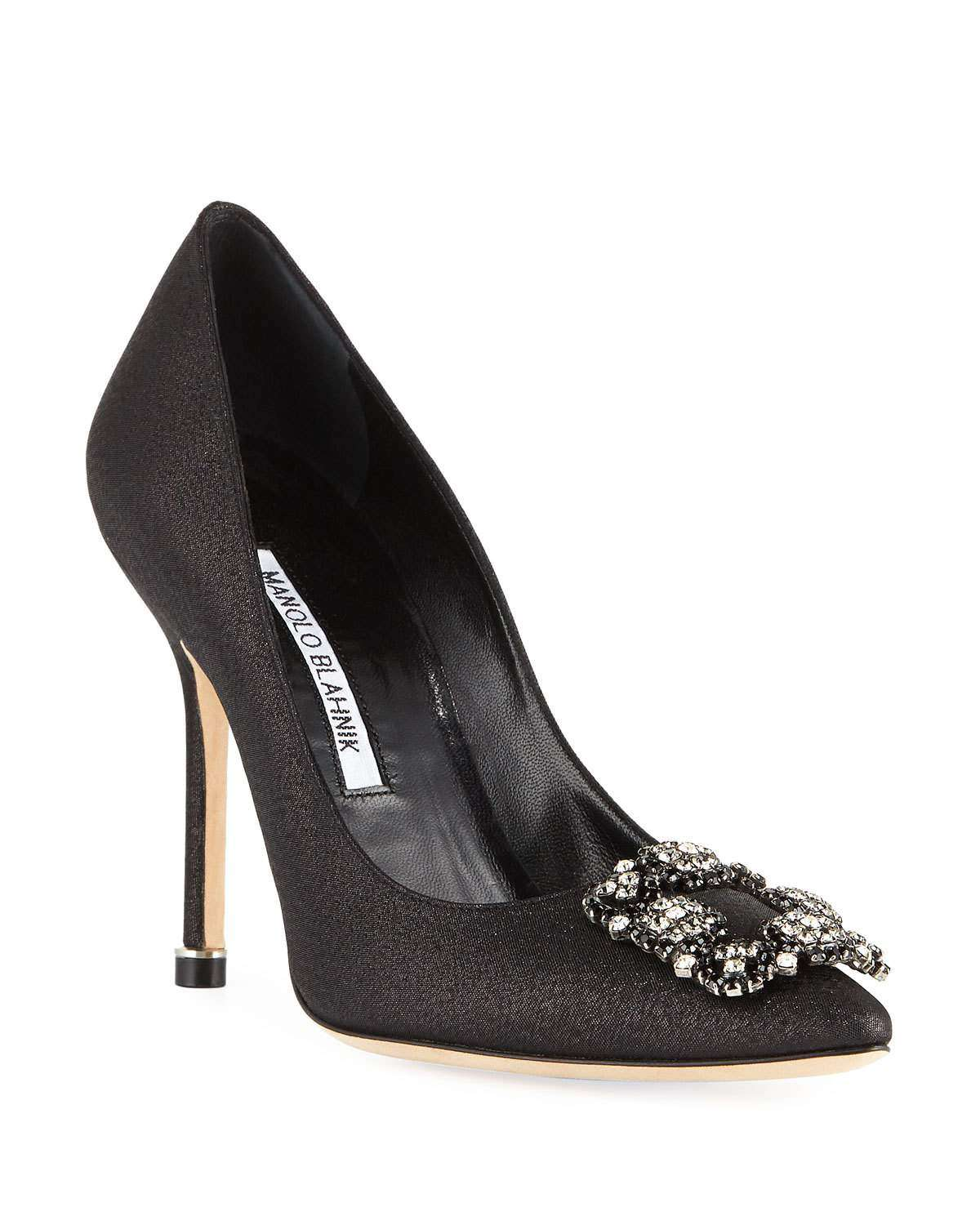 Hangisi Crystal-Buckle 105mm Pumps