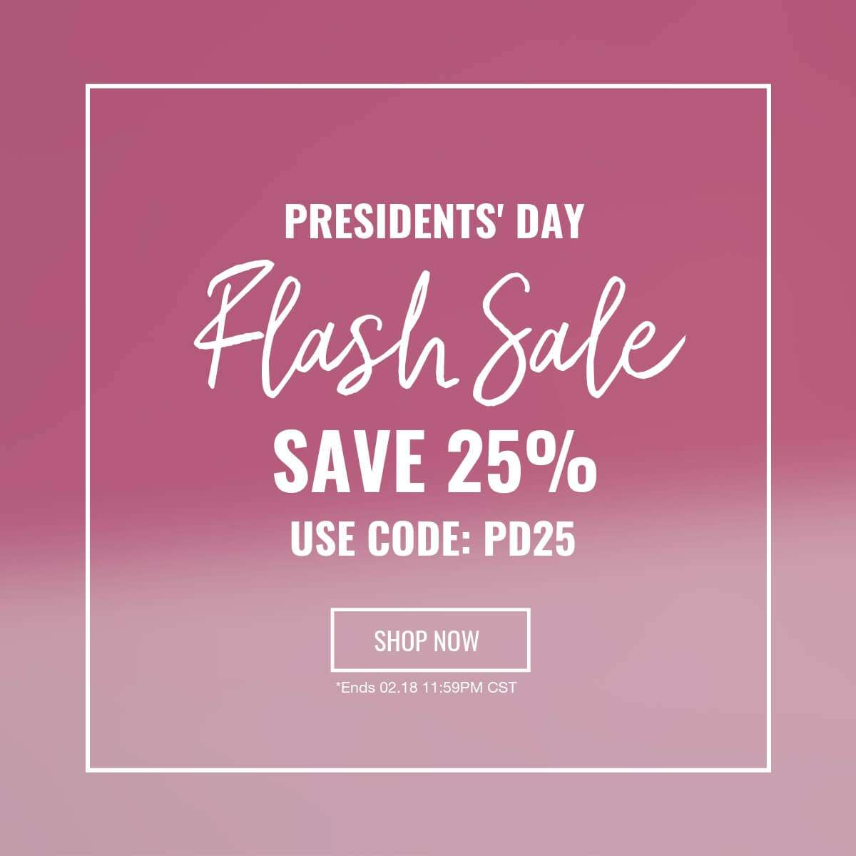 Exclusive 24 Hour Flash Sale | Save 25%