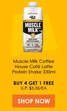 Muscle Milk Coffee House Cafe Latte Protein Shake 330ml