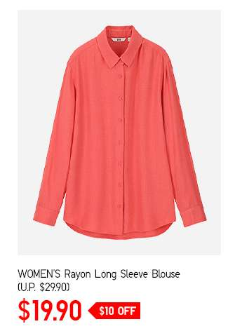 Shop Women's Rayon Long Sleeve Blouse at $19.90