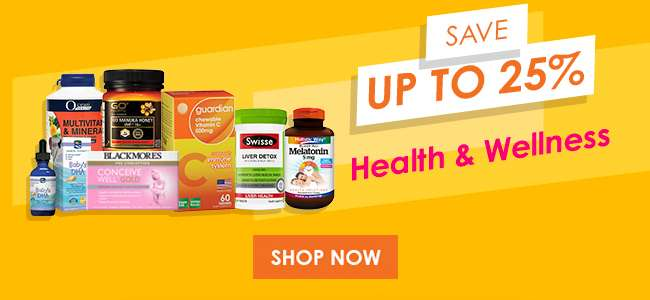 Save up to 25% on Health & Wellness