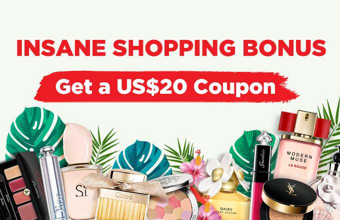 Crazy Shopping Bonus: Get a US$20 Coupon! Min. spend US$65! Ends 11 Feb 2019   Coupon will be sent out on 1 Mar