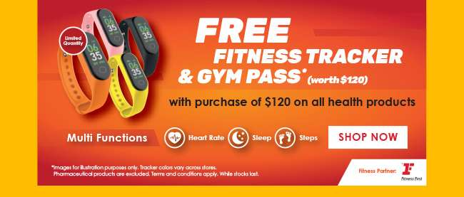 Free Fitness Tracker & Gym Pass worth $120