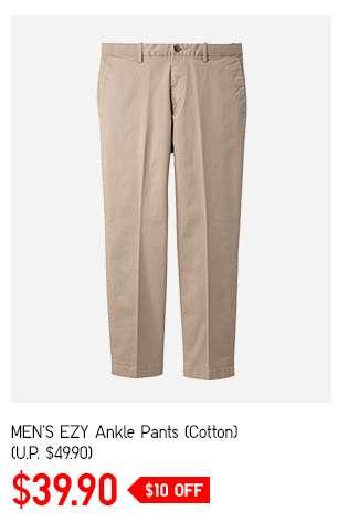 Shop Men's EZY Ankle Pants (Cotton) at $39.90