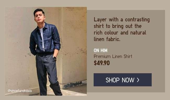 Shop Men's Premium Linen Shirts at $49.90