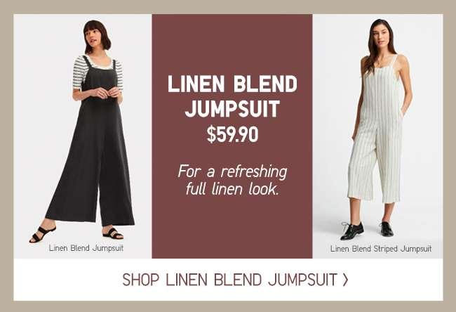 Shop Women's Linen Blend Jumpsuit at $59.90