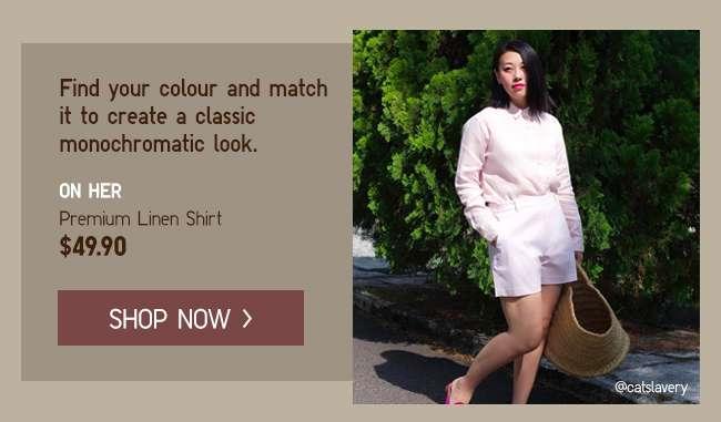 Shop Women's Premium Linen Shirts at $49.90