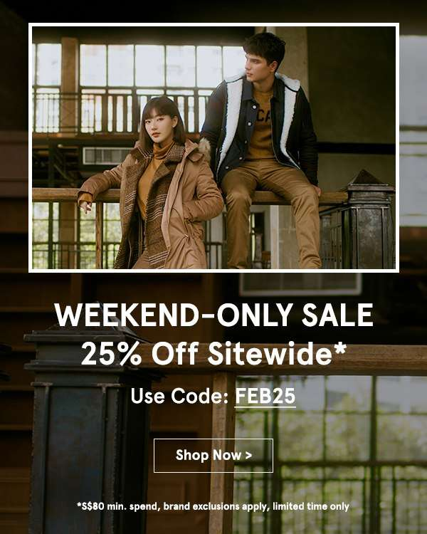 WEEKEND-ONLY: 25% Off Sitewide!