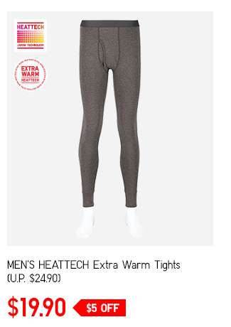 Men's HEATTECH Extra Warm Tights at $19.90