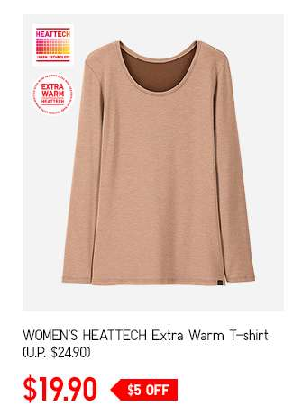 Women's HEATTECH Extra Warm T-shirt at $19.90