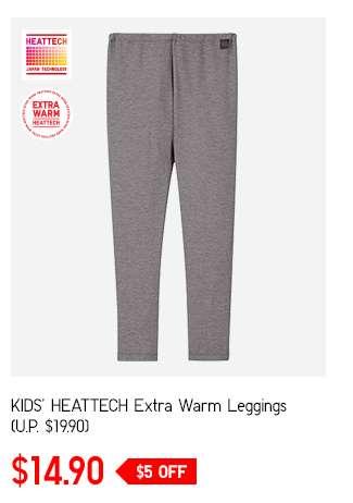 Kids' HEATTECH Extra Warm Leggings at $14.90