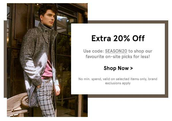 EXTRA 20% OFF Selected Items