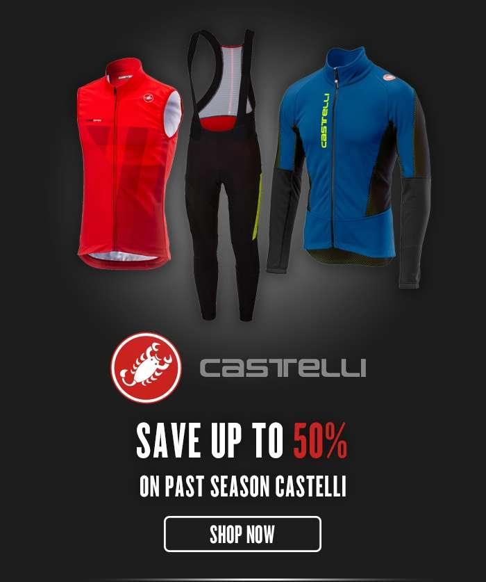 Save up to 50% On past season Castelli