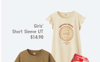 Marie Biscuit Matching Set | Girls' Short Sleeve UT at $14.90