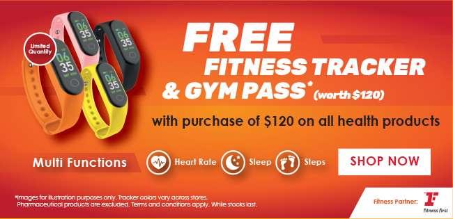 Free Fitness Tracker & Gym Pass worth $120